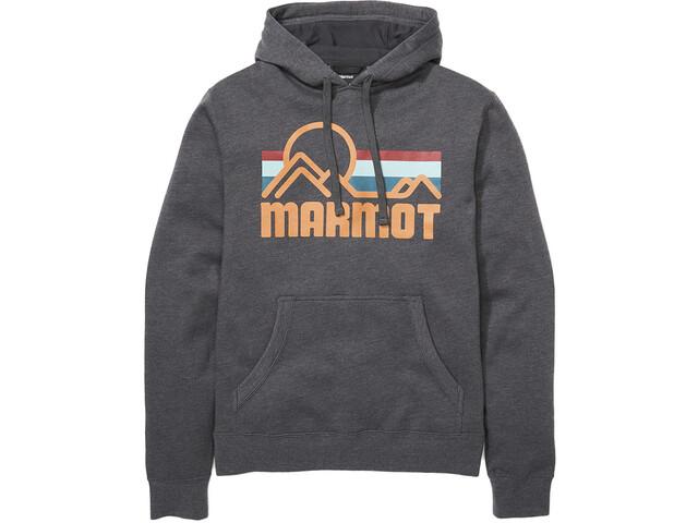 Marmot Coastal Sudadera Capucha Hombre, gris